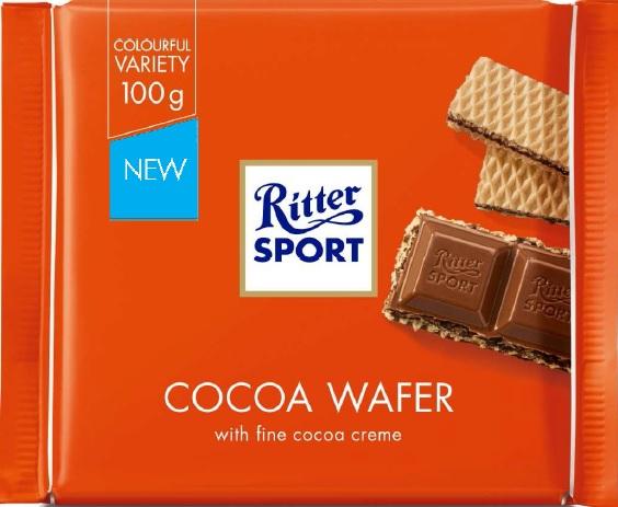 Шоколад Ritter Sport молочный с начинкой какао и вафли 100 г (4000417220004) - изображение 1