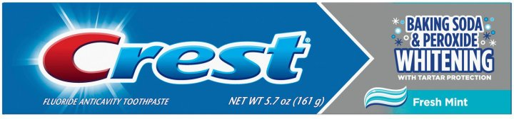 Отбеливающая зубная паста Crest Baking Soda & Peroxide Whitening Fresh Mint 161 г (037000511601) - изображение 1