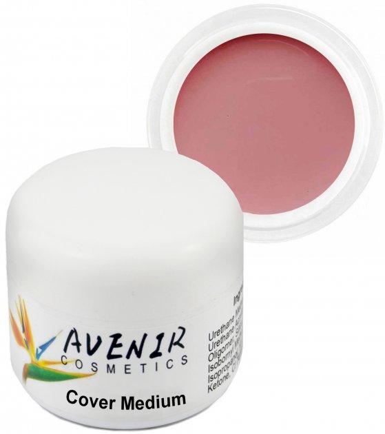 Гель для наращивания ногтей Avenir Cosmetics Cover Medium 30 мл (5900308133187) - изображение 1