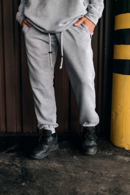 """Штаны Мужские Intruder 'Stroper"""" Oversize осеннее весеннее летнее спортивные брюки серые XXL-XXXL - изображение 1"""