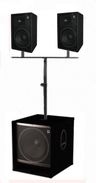 """Комплект звукового обладнання Sound Division DJ8SA3 750Вт 15""""+2*8"""" - зображення 1"""