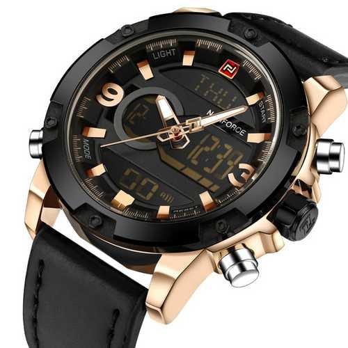 Наручний годинник AlexMosh чоловічі Naviforce NF9097 Black-Cuprum (12) - зображення 1