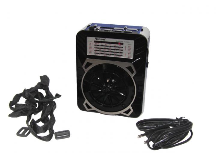 Радиоприемник Golon RX-9133 FM AM SW 1-7 AUX USB LED SD с фонарем new - изображение 1