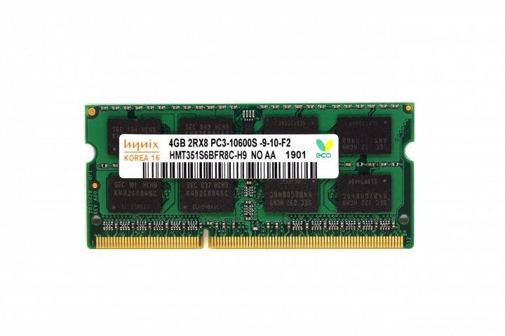 Оперативна пам'ять Hynix SODIMM DDR3-1333 4096MB PC3-10600 16Chip (HMT351S6BFR8C-H9) - зображення 1