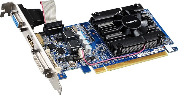 Відеокарта GigaByte GeForce GT 210 1GB GDDR3 (64bit) (590/1200) (DVI, VGA, HDMI) (GV-N210D3-1GI) - изображение 1
