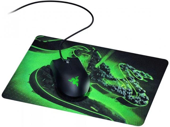 Миша Razer Abyssus Lite USB з ігровою поверхнею Goliathus Mobile Construct Edition Black/Green (RZ83-02730100-B3M1) - зображення 1