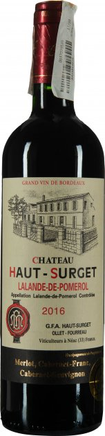 Вино PVS Chateau Haut-Surget червоне сухе 0.75 л 14-% (3760049260847) - зображення 1