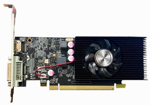 AFOX PCI-Ex GeForce GT1030 2GB GDDR5 (64bit) (1227/6000) (DVI, HDMI) (AF1030-2048D5L7) - зображення 1