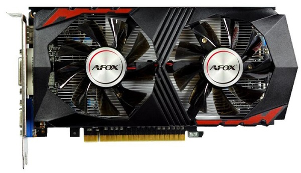 AFOX PCI-Ex GeForce GTX 750 Ti 2GB GDDR5 (128bit) (1020/5400) (DVI, VGA, HDMI) (AF750TI-2048D5H5-V7) - зображення 1
