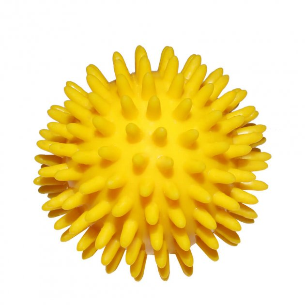 Массажный мячик Ridni Relax диаметр 8 см желтый - изображение 1