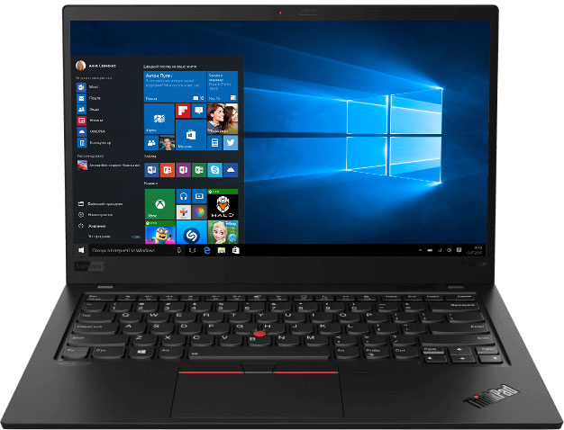 Ноутбук Lenovo ThinkPad X1 Carbon (8th Gen) (20U9005CRT) Black - зображення 1