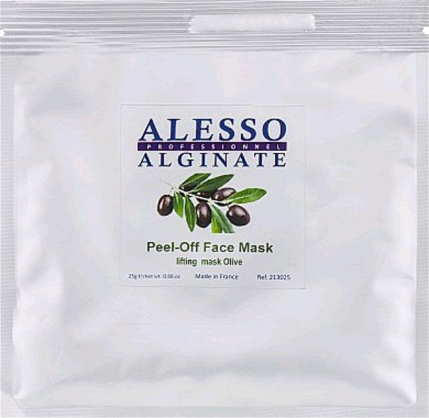Альгинатная маска для лица Alesso с Оливой лифтинговая омолаживающая, тонизирующая 25 г (3273629213176) - изображение 1