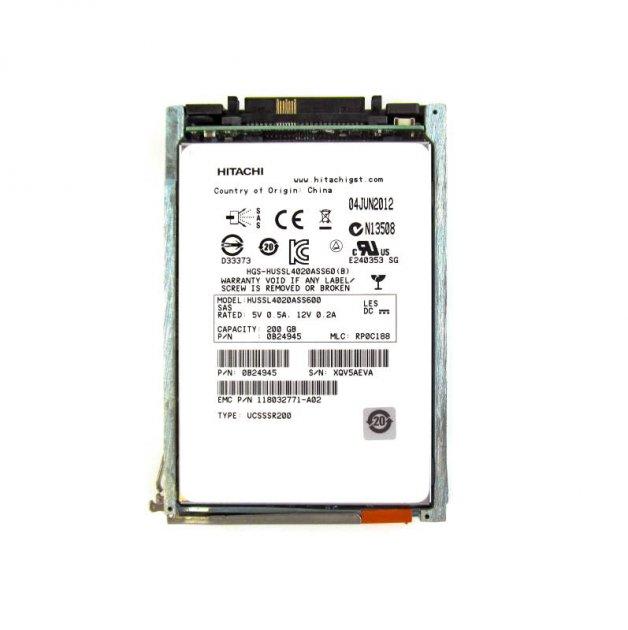 SSD EMC 200GB 2.5 in SAS SSD for VNX (FLVX2S6F-200) Refurbished - зображення 1