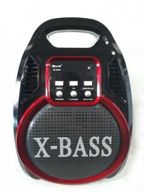 Колонка комбик Bluetooth mp3 радиомикрофон пульт цветомузыка Golon RX-820 BT (gr006278) - изображение 1