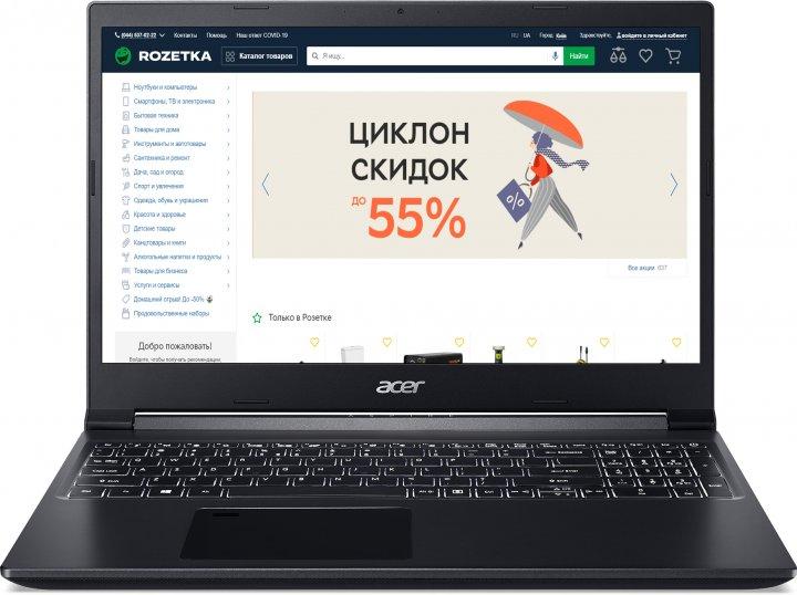 Ноутбук Acer Aspire 7 A715-75G-70VJ (NH.Q9AEU.00B) Charcoal Black - зображення 1