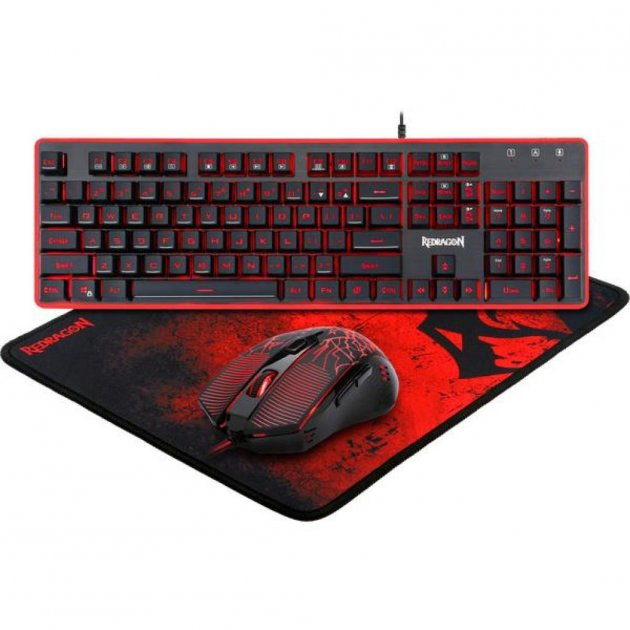 Комплект Redragon S107 USB Black-Red (78225) - зображення 1