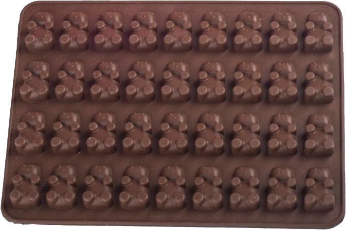 Силиконовая форма для шоколада MYS Медведь Коричневая (MYS-41182) - изображение 1