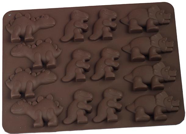 Силіконова форма для шоколаду MYS Динозавр Коричнева (MYS-48235) - зображення 1