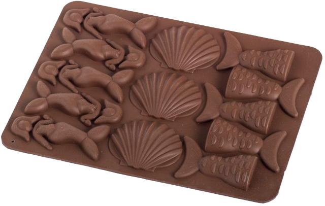 Силиконовая форма для шоколада MYS Море Коричневая (MYS-48242) - изображение 1