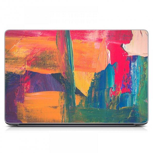 """Универсальная наклейка для ноутбука, 13.3""""-17.3"""" 400x260 мм Разноцветные мазки Матовая - изображение 1"""