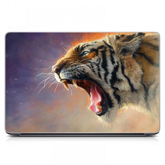"""Универсальная наклейка на ноутбук 15.6""""-13.3"""" 380х250 мм IdeaClock Рев матовый Матовая - изображение 1"""