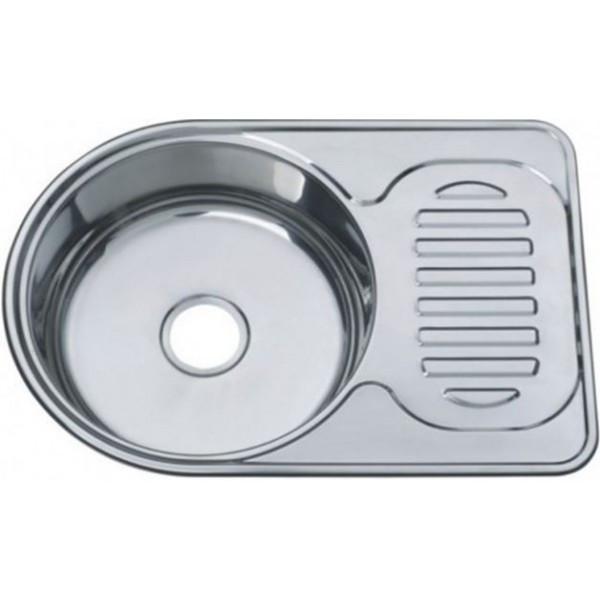 Кухонна мийка врізна з нержавіючої сталі Platinum 6745 Декор 0.8 - зображення 1