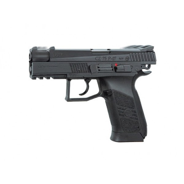 Пистолет пневм. ASG CZ 75 P-07 Nickel Blowback, 4,5 мм , вставка никель - зображення 1