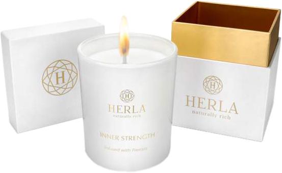 Свеча ароматическая Herla Фрезия для релаксации 200 г (5902983700982) - изображение 1