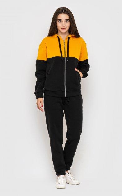 Спортивный костюм Santali 4158 M Черный с горчичным (7000000081583) - изображение 1
