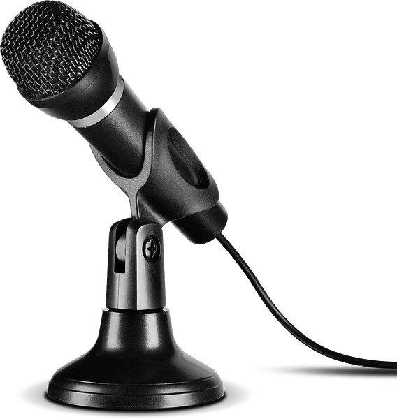 Мікрофон SPEEDLINK Capo USB Desk and Hand Microphone Black (SL-800002-BK) - зображення 1