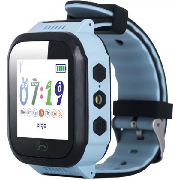 Дитячі смарт-годинник Ergo GPS Tracker Color J020 Blue Б/У - зображення 1
