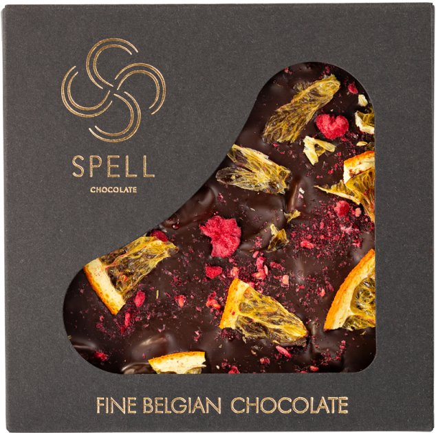 Шоколад Spell Dark chocolate 70% & citrus 90 г (4820207310704) - изображение 1