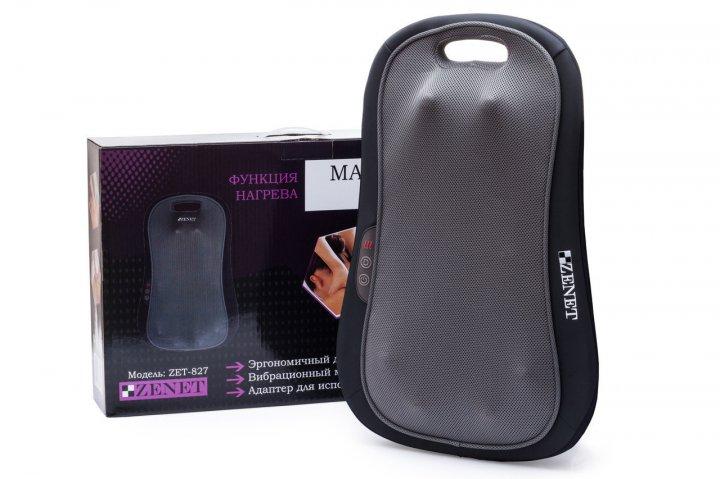 Массажная подушка для спины Zenet ZET 827 массаж позвоночника - изображение 1