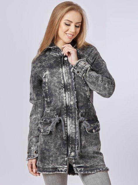 Джинсовая куртка Mila Nova Q-14 42 Черная (2000000011639) - изображение 1