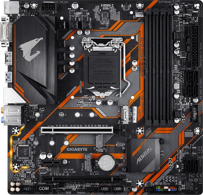 Материнская плата Gigabyte B365M AORUS ELITE (s1151, Intel B365, PCI-Ex16) - изображение 1