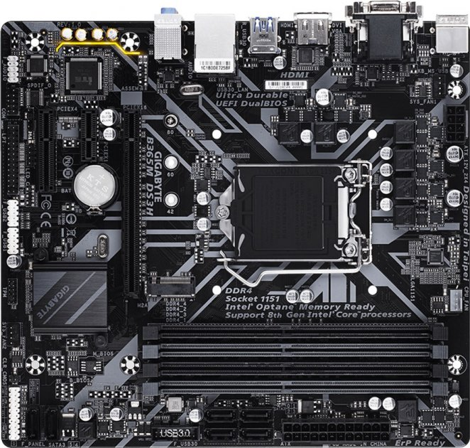 Материнская плата Gigabyte B365M DS3H (s1151, Intel B365, PCI-Ex16) - изображение 1