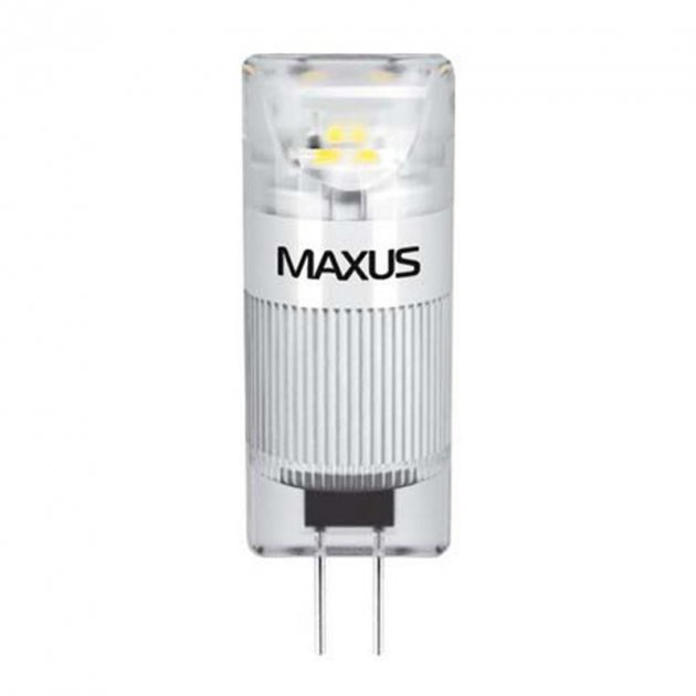 Лампа світлодіодна Maxus G4 (1W, 5000K, 12V, AC/DC) CR - зображення 1