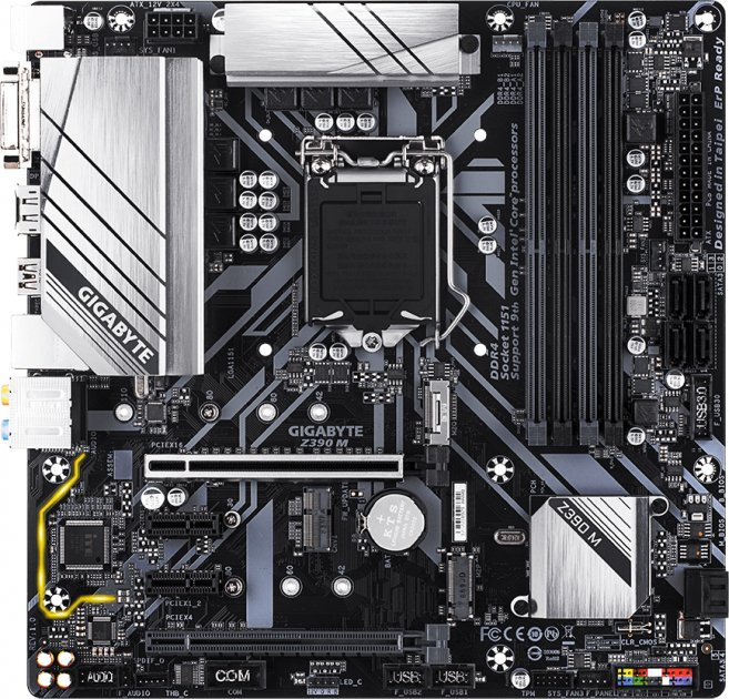 Материнська плата Gigabyte Z390 M (s1151, Intel Z390, PCI-Ex16) - зображення 1