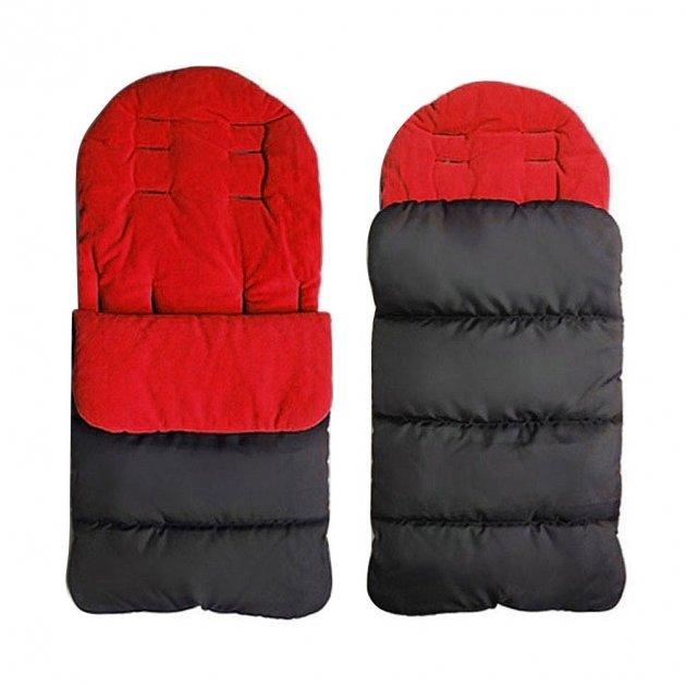Конверт в коляску зимовий 4 в 1 спальний мішок / муфта для ніг / ковдра / матрасик для коляски непромокальний і непродуваємий на блискавці Sleeping Bag червоний (ЅВ-21454) - зображення 1