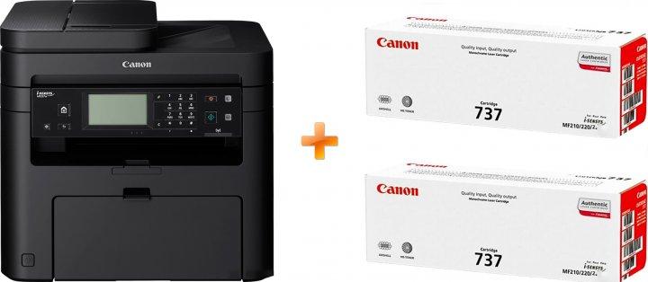 Canon i-SENSYS MF237w Wi-Fi, ethernet, fax (1418C162AA/418C170AA) Bundle: + 2 картриджі Canon 737 - зображення 1