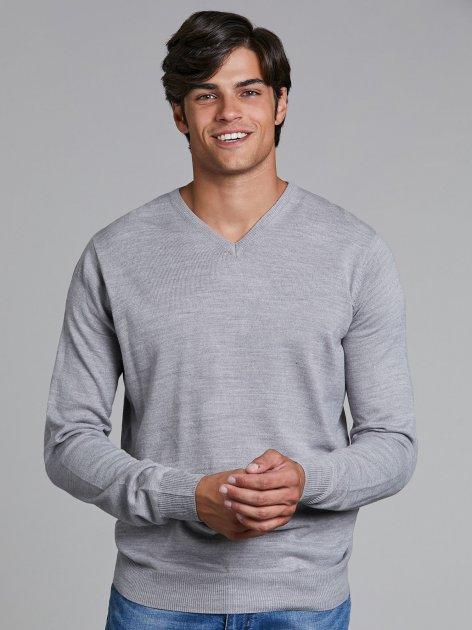 Пуловер Piazza Italia 35125-1655 M Grey Melange (2035125003047) - изображение 1