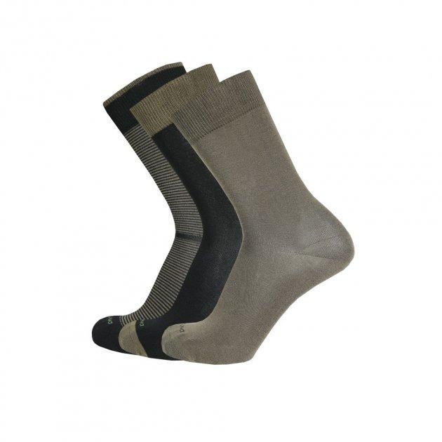 Набір шкарпеток DUNA чоловічих демісезонних з 3-х пар, із бавовни 1060 43-46 Хакі (010601670023111101) - изображение 1