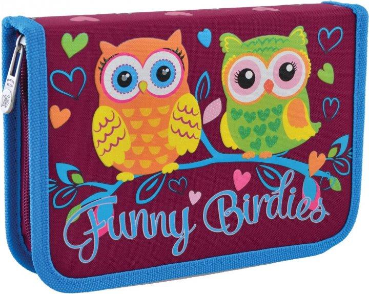 Пенал Yes Funny Birdies твердый одинарный с клапаном 1 отделение Разноцветный (532156) - изображение 1