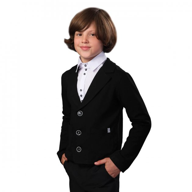 Жакет Timbo Jason р.32 (7-8 лет) 128 см Черный (G050744) - изображение 1