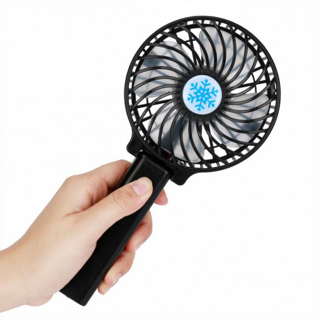 Портативний ручний вентилятор Handy Fan Mini Plus чорний - зображення 1