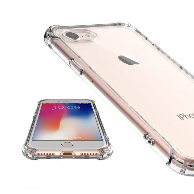 Противоударный прозрачный cиликоновый чехол на iPhone 7 (1799 iPhone 7) - изображение 1