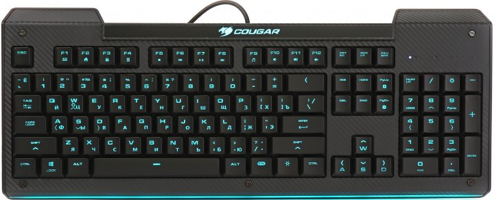 Клавіатура дротова Cougar Aurora USB Black - зображення 1