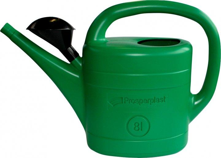 Садовая лейка Prosperplast SPRING 8 л Зеленая (5905197654737) - изображение 1