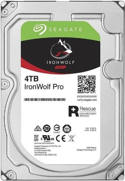 "Жорсткий диск Seagate IronWolf Pro HDD 4TB 7200rpm 128MB ST4000NE001 3.5"" SATAIII - зображення 1"