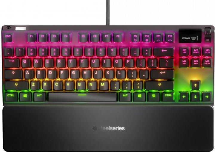 Клавіатура дротова SteelSeries Apex 7 TKL USB (SS64646) - зображення 1